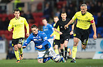St Johnstone v St Mirren.....11.01.14   SPFL<br /> Gary McDonald is brought down by Jim Goodwin<br /> Picture by Graeme Hart.<br /> Copyright Perthshire Picture Agency<br /> Tel: 01738 623350  Mobile: 07990 594431