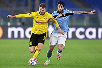 Lukasz Piszczek of Borussia Dortmund and Luis Alberto of SS Lazio compete for the ball during the Champions League Group Stage F day 1 football match between SS Lazio and Borussia Dortmund at Olimpic stadium in Rome (Italy), October, 200 Italy, 2020. Photo Andrea Staccioli / Insidefoto