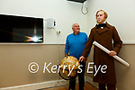 Micheál Lyne Chairman Valentia Island Development Co. pictured here with the life size waxwork of Cyrus Field at the Valentia Island Cable Station in Knightstown.