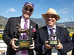 November 2, 2019: Connections for Belvoir Bay, winner of the Breeders' Cup Turf Sprint on Breeders' Cup World Championship Saturday at Santa Anita Park on November 2, 2019: in Arcadia, California. Bill Denver/Eclipse Sportswire/CSM