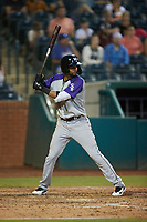 Johan Cruz (13) of the Winston-Salem Dash at bat against the Greensboro Grasshoppers at First National Bank Field on June 3, 2021 in Greensboro, North Carolina. (Brian Westerholt/Four Seam Images)
