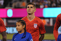 EAST RUTHERFORD, NJ - SEPTEMBER 6: Christian Pulisic #10 of the United States during the presentation of the team during a game between Mexico and USMNT at MetLife Stadium on September 6, 2019 in East Rutherford, New Jersey.