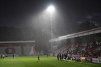 heavey rain during Stevenage vs MK Dons, EFL Trophy Football at the Lamex Stadium on 6th October 2020