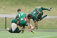 The Wyong Roos play West Rosella in the Tooheys Newcastle Rugby League Reserve Grade Grand Final at Maitland Sportsground on 18th of October, 2020 in Maitland, NSW Australia. (Photo by James Quigley/LookPro)