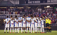 Orlando, FL - Friday Oct. 06, 2017: Panama starting eleven during a 2018 FIFA World Cup Qualifier between the men's national teams of the United States (USA) and Panama (PAN) at Orlando City Stadium.