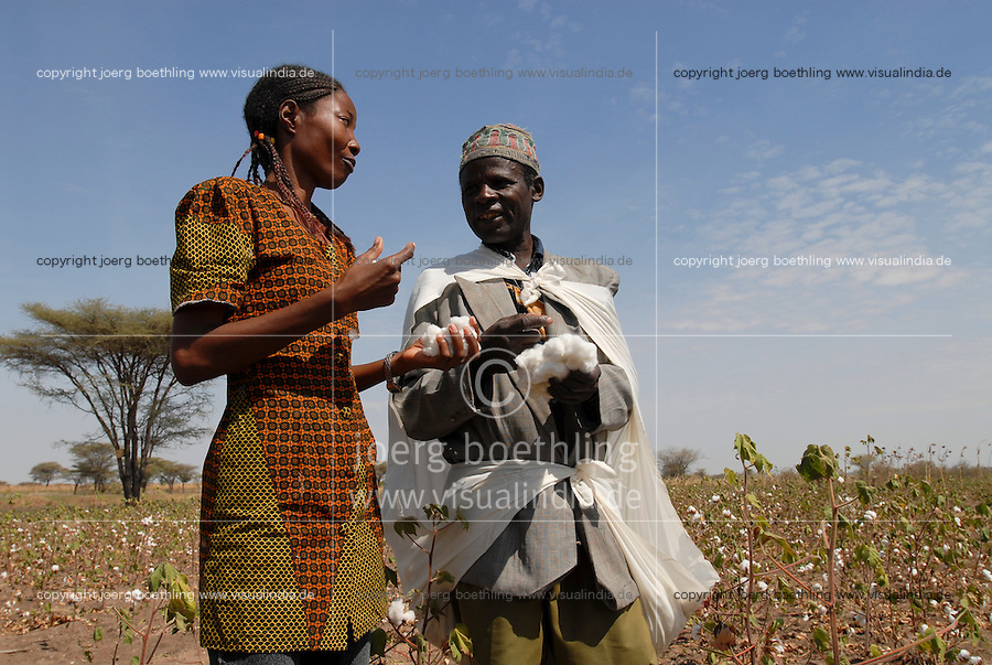 TANZANIA Meatu, organic cotton project biore of swiss yarn trader Remei AG , trainings center quality improvement during cotton harvest