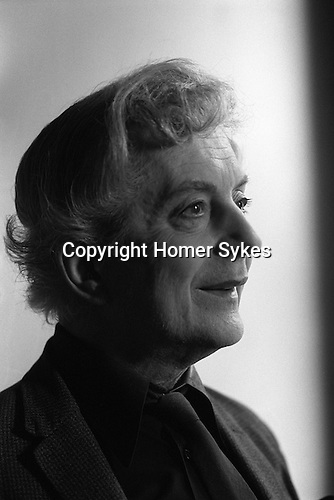 Quentin Crisp in his Earls Court London flat, some times referred to as in Chelsea) just before he left to live in New York in 1981.