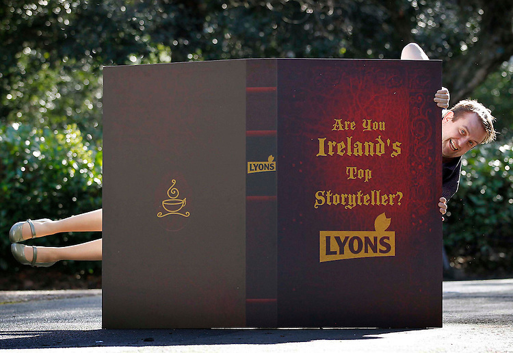 A Tale of Two Halves.....Comedian Karl Spain and storyteller Clare Muireann Murphy announce the search for Ireland's Lyons Gold Blend Top Storyteller.