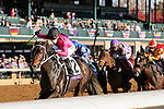 November 6, 2020: Vequist, ridden by Joel Rosario, wins the Juvenile Fillies on Breeders' Cup Championship Friday at Keeneland on November 6, 2020: in Lexington, Kentucky. Matt Wooley/Eclipse Sportswire/Breeders Cup/CSM