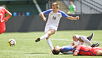 Portland, OR - Saturday August 12, 2017: Indiana Vassilev during friendly match between the USMNT U17's and Chile u17's at Providence Park in Portland, OR.