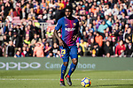 Samuel Umtiti of FC Barcelona in action during the La Liga 2017-18 match between FC Barcelona and RC Celta de Vigo at Camp Nou Stadium on 02 December 2017 in Barcelona, Spain. Photo by Vicens Gimenez / Power Sport Images