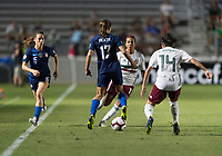 Cary, NC - October 4, 2018:  The USWNT defeated Mexico 6-0 during the group stage of the 2018 CONCACAF Women's Championship at WakeMed Soccer Park.