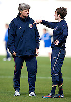 Pia Sundhage, Megan Rapinoe.  The USWNT defeated Iceland, 1-0, at Ferreiras, Portugal.