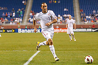 7 June 2011: USA Men's National Team midfielder Landon Donovan (10) go for the ball during the CONCACAF soccer match between USA and Canada at Ford Field Detroit, Michigan. USA won 2-0.