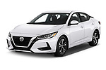 2020 Nissan Sentra SV 4 Door Sedan Angular Front automotive stock photos of front three quarter view