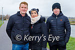Enjoying a stroll in Blennerville on Sunday, l to r: Donal, Bernie and Oisin Collins.