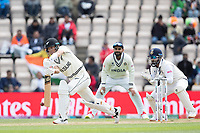 Trent Boult, New Zealand shows the full face of the bat during India vs New Zealand, ICC World Test Championship Final Cricket at The Hampshire Bowl on 22nd June 2021