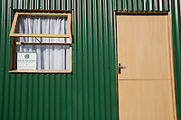 Housing Donated to Low-income Single Mothers, Khayelitsha Township, Cape Town.  Gift of the Givers Islamic Charity.
