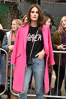Charlotte Wiggins<br /> arrives for the Topshop Unique AW17 show as part of London Fashion Week AW17 at Tate Modern, London.<br /> <br /> <br /> ©Ash Knotek  D3232  19/02/2017