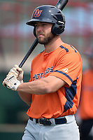 Bowing Green Hot Rods Daniel De La Calle (13) during practice before a game against the Burlington Bees on May 7, 2016 at Community Field in Burlington, Iowa.  Bowling Green defeated Burlington 11-1.  (Mike Janes/Four Seam Images)