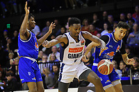 Donte Ingram in action during the National Basketball League match between Cigna Wellington Saints and Nelson Giants at TSB Bank Arena in Wellington, New Zealand on Saturday, 15 May 2021. Photo: Dave Lintott / lintottphoto.co.nz