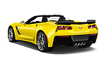Car pictures of rear three quarter view of 2018 Chevrolet Corvette Grand-Sport-3LT 2 Door Convertible Angular Rear