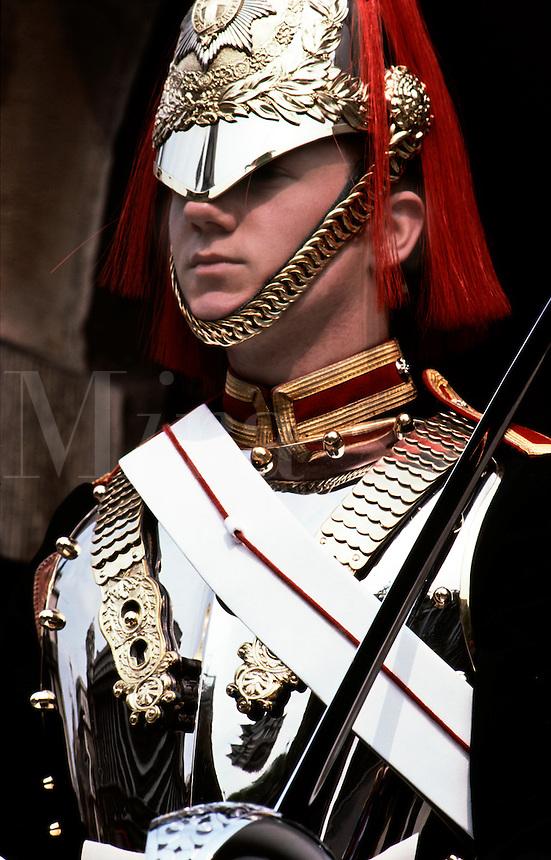 Stoic guard.