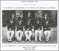 BNPS.co.uk (01202 558833)<br /> Pic: DNW/BNPS<br /> <br /> Pictured: George Lainchbury Bown with the Cadet Officers cricket team in 1936  (front row, second left)<br /> <br /> A unique gold medal depicting Edward VIII has sold for almost £22,000 after a bidding war - over five times its estimate.<br /> <br /> The medal, officially known as the King's Medal, was presented to the star student at the Nautical College in Pangbourne, Berks, in 1936.<br /> <br /> Since it was awarded annually, 19 year old George Lainchbury Bown was the only recipient during Edward's short-lived reign, so it is the sole example made.<br /> <br /> Edward abdicated the throne after 11 months in December 1936 to marry American divorcee socialite Wallis Simpson.<br /> <br /> Bown's medal was acquired by the Old Pangbournian Society, a college alumni organisation, at the sale held by London-based auctioneers Dix Noonan Webb.