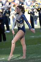 Pitt Golden Girl. The WVU Mountaineers defeated the Pitt Panthers 35-10 at Heinz Field, Pittsburgh, Pennsylvania on November 26, 2010.