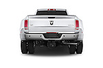 Straight rear view of a 2017 Ram 3500 Laramie 4 Door Van stock images