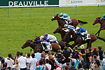 August 15, 2021, Deauville (France) - Races in Deauville wih visitors at the Deauville Racecourse. [Copyright (c) Sandra Scherning/Eclipse Sportswire)]