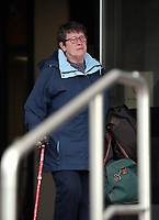 "COPY BY TOM BEDFORD<br /> Pictured: Helen Fleming, the wif of Gordon Fleming, exits Swansea Crown Court. 25 April 2017<br /> Re: A former Powys primary school teacher has admitted a string of historical sex offences against young girls.<br /> Swansea Crown Court heard that Gordon Fleming, from Oswestry, Shropshire, abused two dozen children over a six-year period in the 1970s and 80s.<br /> The 66-year-old pleaded guilty to 24 counts of indecent assault against girls under the age of 13.<br /> Judge Geraint Walters told Fleming he should expect to receive a ""significant prison sentence"".<br /> Fleming, who was convicted of a similar offence at Chester Crown Court in 1992, blew a kiss to his wife in the public gallery before being taken down to the cells.<br /> He was remanded in custody and will reappear at Swansea Crown Court on 5 May ahead of his sentence."