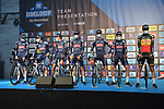 Alpecin Fenix at sign on before the start of the 76th edition of Omloop Het Nieuwsblad 2021 running 200km from Gent to Ninove, Belgium. 27th February 2021  <br /> Picture: Serge Waldbillig | Cyclefile<br /> <br /> All photos usage must carry mandatory copyright credit (© Cyclefile | Serge Waldbillig)