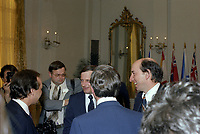 L'Assermentation du cabinet Trudeau a Ottawa,  3 mars 1983. Marc Lalonde<br /> <br /> PHOTO : Agence Quebec Presse