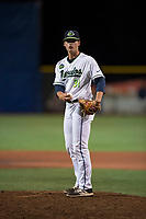 Hillsboro Hops relief pitcher Josh Green (31) during a Northwest League game against the Salem-Keizer Volcanoes at Ron Tonkin Field on September 1, 2018 in Hillsboro, Oregon. The Salem-Keizer Volcanoes defeated the Hillsboro Hops by a score of 3-1. (Zachary Lucy/Four Seam Images)