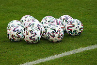 Baelle liegen bereit - 23.03.2021: Training der Deutschen Nationalmannschaft vor dem WM-Qualifikationsspiel gegen Island, Merkus Spiel Arena Duesseldorf