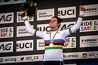 World Champion Marion Riberolle (FRA)<br /> <br /> Women's U23 race<br /> UCI 2020 Cyclocross World Championships<br /> Dübendorf / Switzerland<br /> <br /> ©kramon