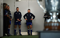 Referee Paul Williams prepares to walk out for the Bledisloe Cup rugby match between the New Zealand All Blacks and Australia Wallabies at Eden Park in Auckland, New Zealand on Saturday, 7 August 2021. Photo: Dave Lintott / lintottphoto.co.nz