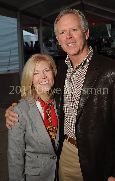 Debbie and Bill Stacy at the Nature Conservancy's Nature Rocks  Gala at the Houston Polo Club Thursday Oct. 22,2015.(Dave Rossman photo)