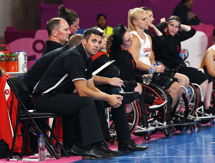Lima 2019 - Wheelchair Basketball // Basketball en fauteuil roulant.<br /> Women's wheelchair basketball competes against Argentina // Le basketball en fauteuil roulant féminin contre Argentine. 25/08/2019.