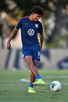 Miami, FL - Tuesday, October 15, 2019:  Chris Richards #14 during a friendly match between the USMNT U-23 and El Salvador at FIU Soccer Stadium.
