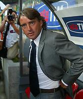 Milano 27/7/2004 Trofeo Tim - Tim tournament <br /> <br /> Roberto Mancini allenatore dell'inter<br /> <br /> Roberto Mancini Inter Trainer<br /> <br /> <br /> <br /> Inter Milan Juventus <br /> <br /> Inter - Juventus 1-0<br /> <br /> Milan - Juventus 2-0<br /> <br /> Inter - Milan 5-4 d.cr - penalt.<br /> <br /> <br /> <br /> Photo Andrea Staccioli Insidefoto