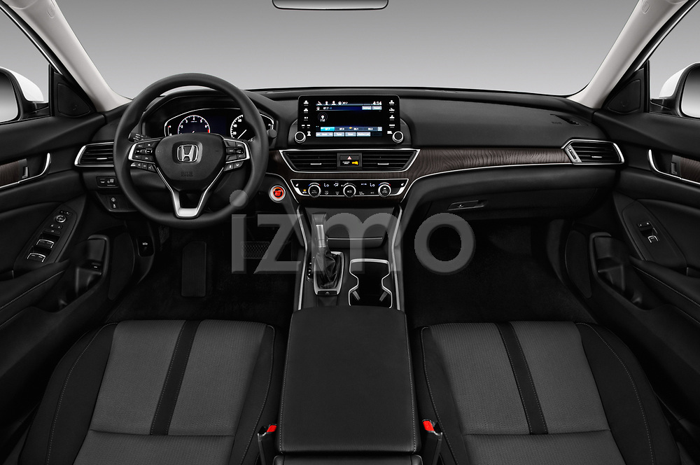 Stock photo of straight dashboard view of a 2018 Honda Accord EX 4 Door Sedan