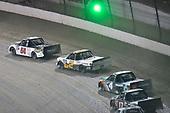 #54: Kyle Strickler, DGR-Crosley, Toyota Tundra DGR-Crosley Driver Development and #4: Todd Gilliland, Kyle Busch Motorsports, Toyota Tundra JBL/SiriusXM