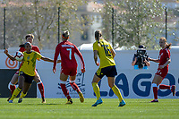 20200307  Lagos , Portugal : Swedish Madelen Janogy (7) pictured during the female football game between the national teams of Sweden and Denmark on the second matchday of the Algarve Cup 2020 , a prestigious friendly womensoccer tournament in Portugal , on saturday 7 th March 2020 in Lagos , Portugal . PHOTO SPORTPIX.BE | STIJN AUDOOREN
