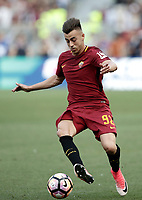 Calcio, Serie A: Roma, stadio Olimpico, 28 maggio 2017.<br /> AS Roma's Stephan El Shaarawy in action during the Italian Serie A football match between AS Roma and Genoa at Rome's Olympic stadium, May 28, 2017.<br /> Francesco Totti's final match with Roma after a 25-season career with his hometown club.<br /> UPDATE IMAGES PRESS/Isabella Bonotto