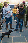 The Mayor of Troutbeck Hunt Day 2018. Terrier show after a days hunting outside the Queens Head, Troutbeck Cumbria.UK