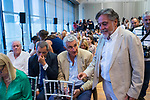 Fernando Romay former basketball player and Pepu Hernandez former coach (r) during the official presentation of Spanish National Team of Basketball.  July 24, 2019. (ALTERPHOTOS/Francis Gonzalez)