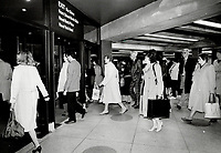 1985 FILE PHOTO - ARCHIVES -<br /> <br /> Shopping centers, Underground--Ontario--Toronto<br /> <br /> 1985<br /> <br /> PHOTO :  Erin Comb - Toronto Star Archives - AQP