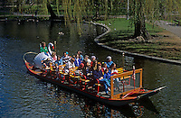Swan boats Boston Public Gardens